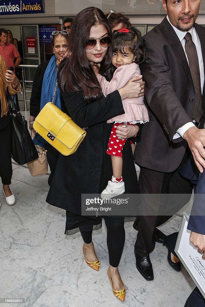 <a gi-track='captionPersonalityLinkClicked' href=/galleries/search?phrase=Aishwarya+Rai&family=editorial&specificpeople=202237 ng-click='$event.stopPropagation()'>Aishwarya Rai</a> seen at Nice airport during the 66th Annual Cannes Film Festival at Nice Airport on May 17, 2013 in Nice, France.
