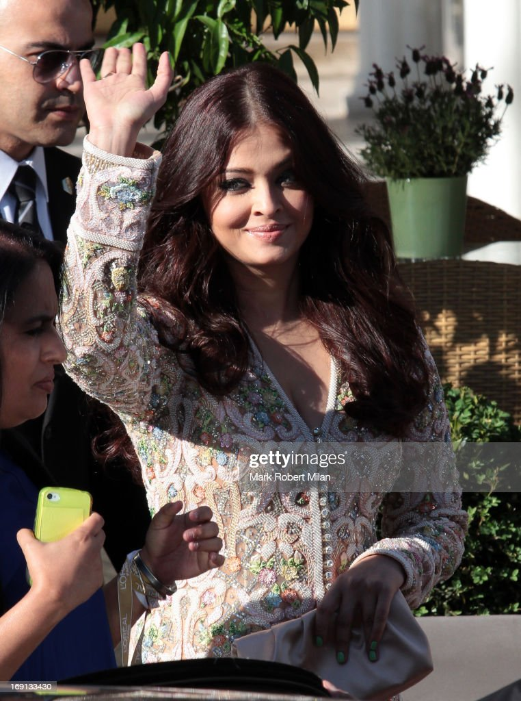 Aishwarya Rai sighted leaving the L'Oreal cocktail reception during The 66th Annual Cannes Film Festival on May 20, 2013 in Cannes, France.