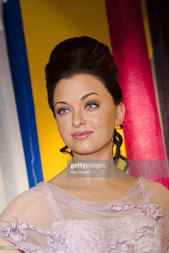 Aishwarya Rai wax figure is unveiled during the launch of the traveling Bollywood Exhibit at Madame Tussauds on December 4, 2012 in Washington, DC.