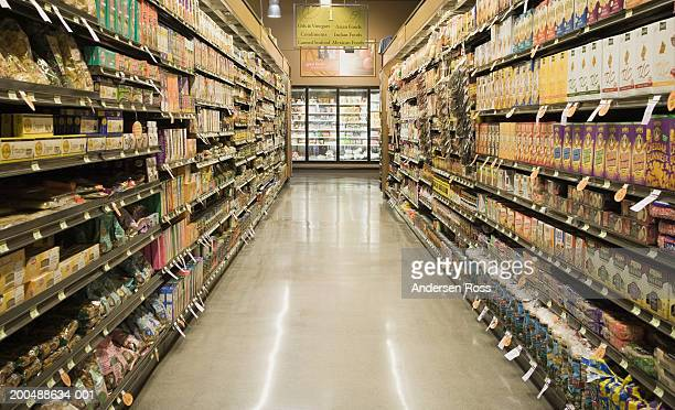 Aisle in grocery store