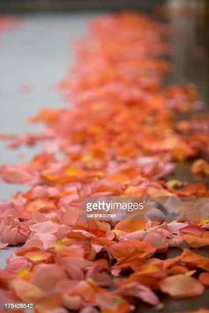 Supermarktgang Blütenblätter