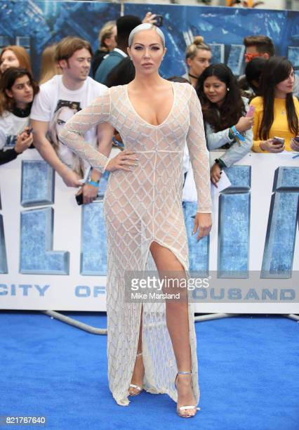 Aisleyne HoganWallace attends the 'Valerian And The City Of A Thousand Planets' European Premiere at Cineworld Leicester Square on July 24 2017 in...