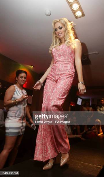 Aisleyne Horgan Wallace takes part in a catwalk show at Funkymojoe in London to raise money for childrens charity Havens House