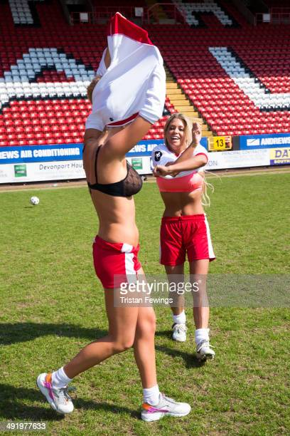 Aisleyne HorganWallace and Bianca Gascoigne attend Soccer Six in aid of Help A Capital Child and the Charlton Athletic Community Trust at Charlton...