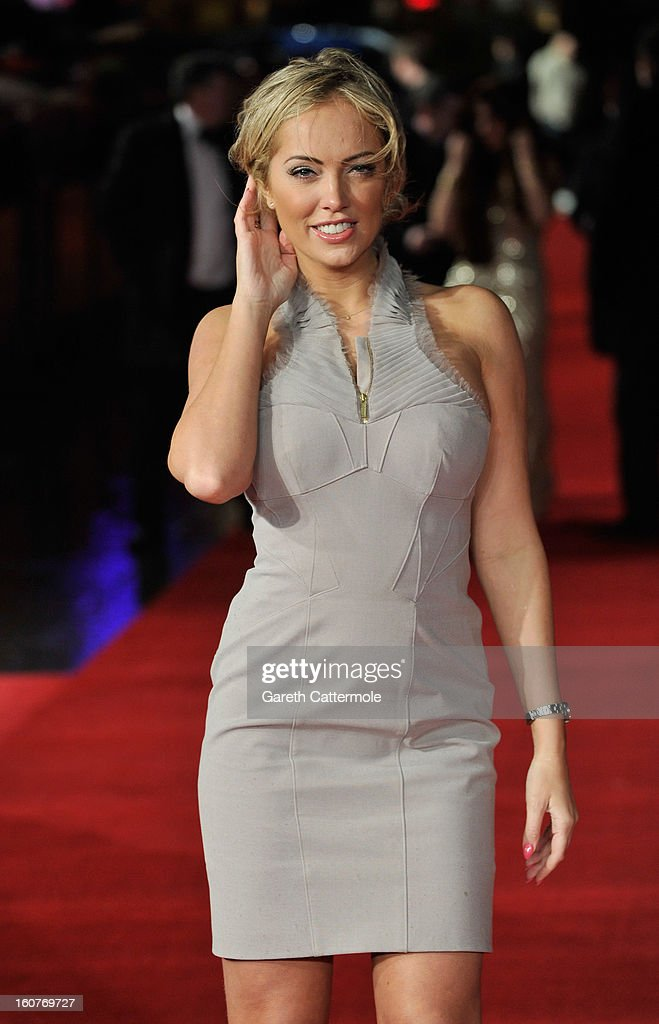 Aisleyne HorganWallace attends the UK Premiere of 'Run For Your Wife' at Odeon Leicester Square on February 5 2013 in London England