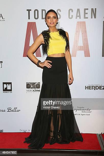 Aislinn Derbez attends 'A La Mala' Mexico City premiere at Cinepolis Antara Polanco on February 24 2015 in Mexico City Mexico