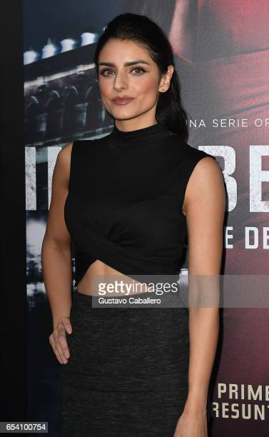 Aislinn Derbez attends the Premiere Of Netflix's 'Ingobernable' Arrivals at Colony Theater on March 15 2017 in Miami Beach Florida