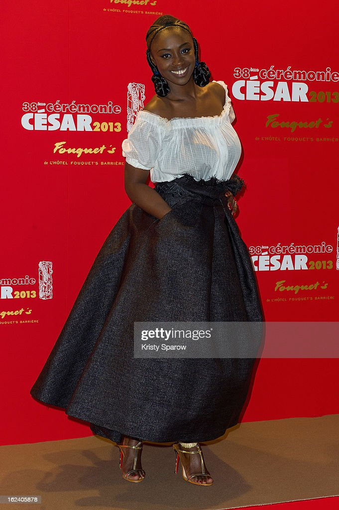 Aissa Maiga attends the Cesar Film Awards 2013 at Le Fouquet's on February 22, 2013 in Paris, France.
