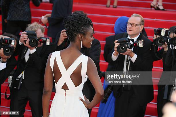 Aissa Maiga attends the 'Mr Turner' Premiere at the 67th Annual Cannes Film Festival on May 15 2014 in Cannes France