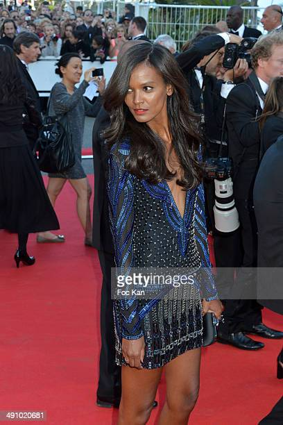 Aissa Maiga attends the 'Mr Turner' Premiere at the 67th Annual Cannes Film Festival at Palais des Festivals on May 15 2014 in Cannes France