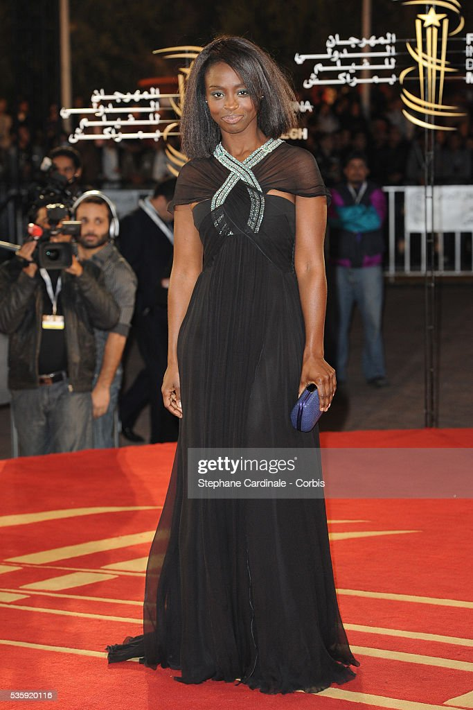 Aissa Maiga attends the Opening Ceremony of the Marrakech 10th Film Festival.