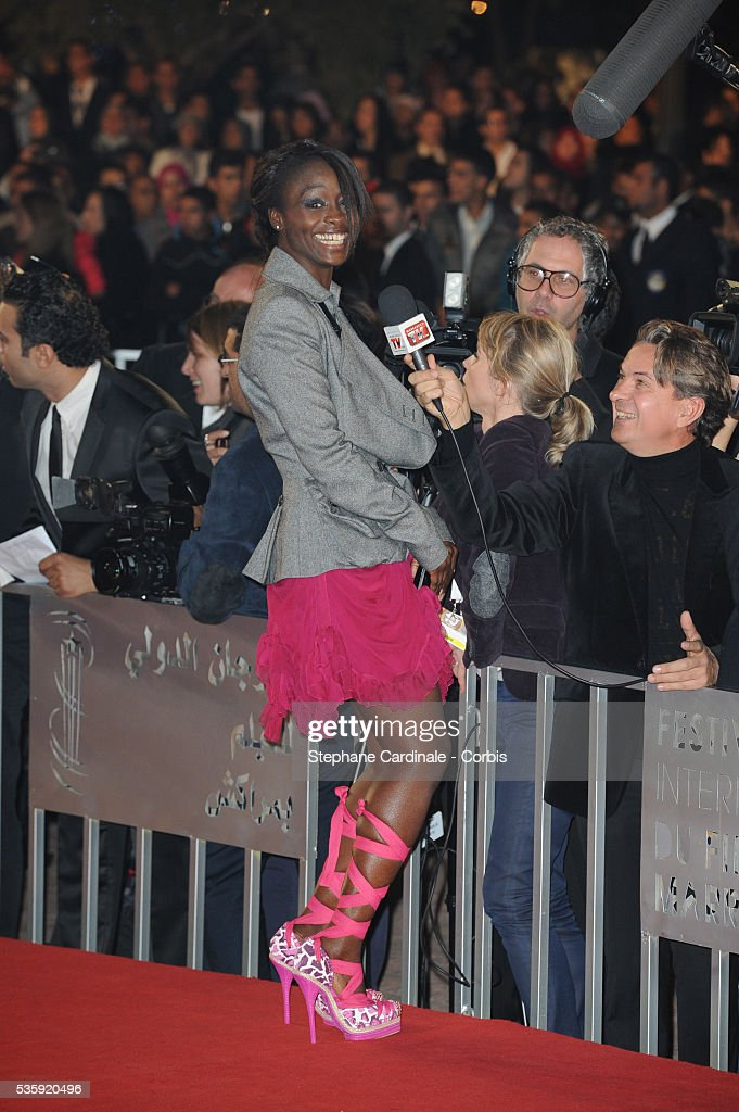 Aissa Maiga attends the Tribute to French Cinema during the Marrakech 10th Film Festival.