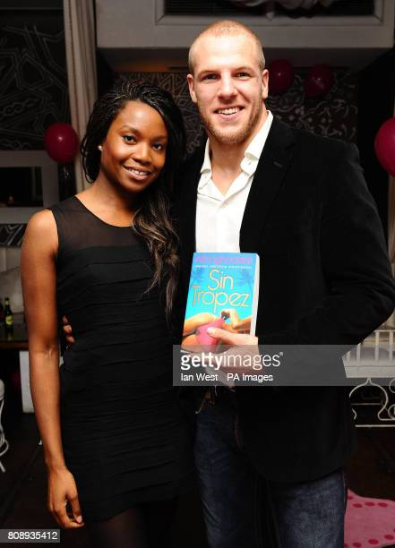 Aita Ighodaro and James Haskell at the Playgirl Magazine launch party at the Blanca Bar London