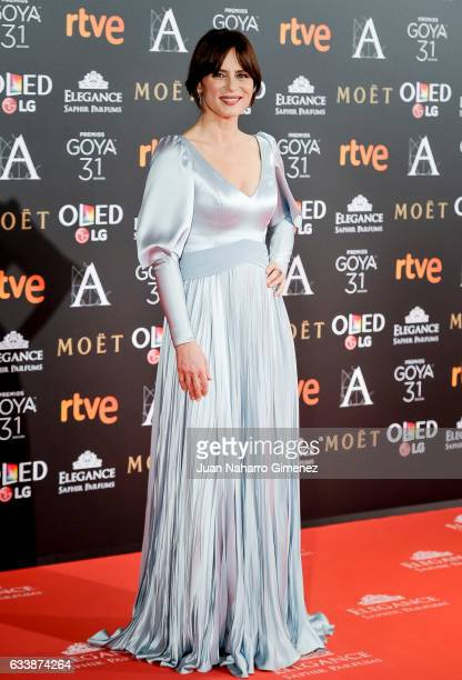 Aitana Sanchez Gijon attends Goya Cinema Awards 2017 at Madrid Marriott Auditorium on February 4 2017 in Madrid Spain