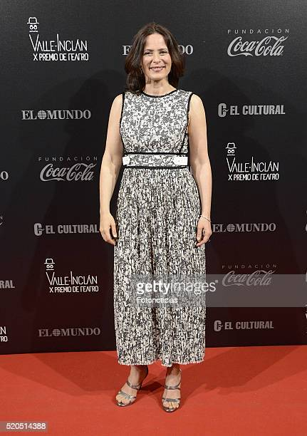 Aitana Sanchez Gijon attends the ValleInclan Theatre Awards at the Teatro Real on April 11 2016 in Madrid Spain
