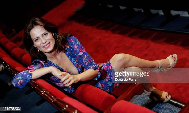 Aitana SanchezGijon attends a portrait session for the play 'Babel' at Marquina Theatre on September 14 2012 in Madrid Spain