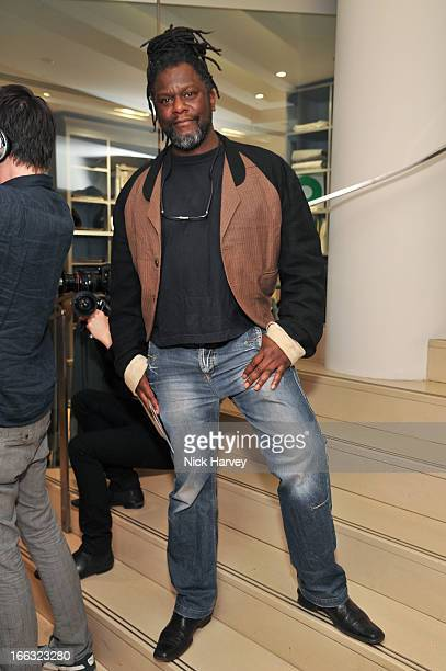 Aitch B attends the launch of Soul II Soul 'Classics' collection at Harvey Nichols on April 11 2013 in London England