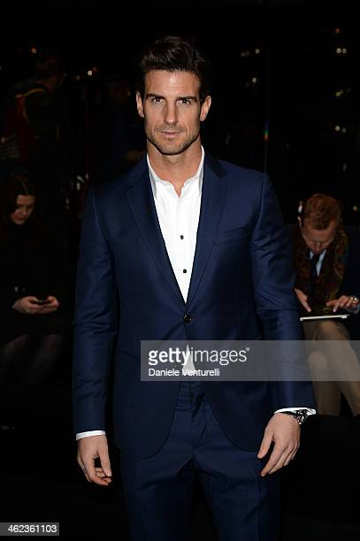 Aitor Ocio attends the Gucci show as a part of Milan Fashion Week Menswear Autumn/Winter 2014 on January 13 2014 in Milan Italy