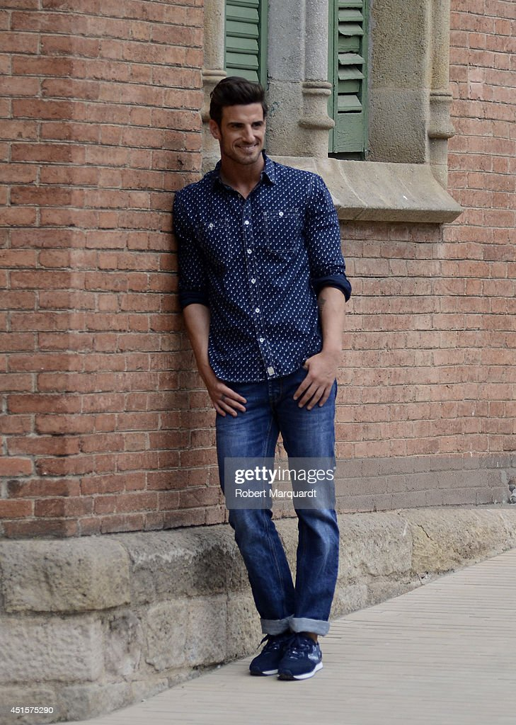 Aitor Ocio is seen during the '080 Barcelona Fashion Week' on July 1, 2014 in Barcelona, Spain.