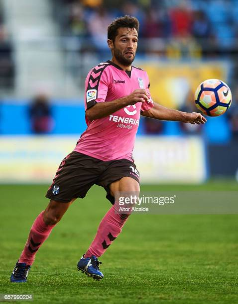 Aitor Sanz of CD Tenerife in action during La Liga Segunda Division between Cadiz CF and CD Tenerife at Estacio Ramon de Carranza on March 26 2017 in...
