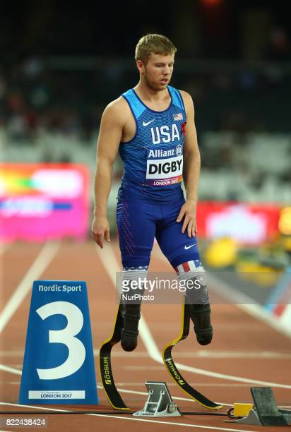 Aj Digby of USA compete Men's 400m T43 Final during World Para Athletics Championships Day Three at London Stadium in London on July 17 2017