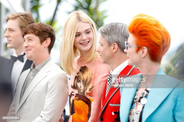 Aj Lewis Alex Sharp Elle Fanning John Cameron Mitchell and Sandy Powell attend the 'How To Talk To Girls At Parties' photocall during the 70th annual...