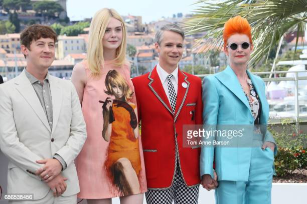 Aj Lewis Alex Sharp Elle Fanning John Cameron Mitchell and Sandy Powell attends the 'How To Talk To Girls At Parties' Photocall during the 70th...