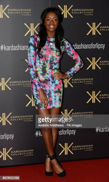 Aj Odudu attending the Kardashian Kollection For Lipsy launch party at the Natural History Museum London