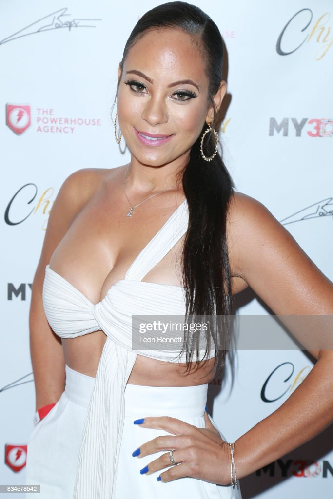 Aja Metoyer attends Blac Chyna Figurine Doll Launch on August 17, 2017 in Los Angeles, California.