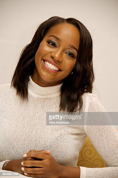 Aja Naomi King at 'The Birth of a Nation' Press Conference at the Fairmont Hotel on September 11 2016 in Toronto Canada
