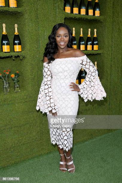 Aja Naomi King at the Eighth Annual Veuve Clicquot Polo Classic on October 14 2017 in Los Angeles California