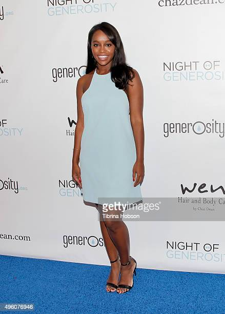 Aja Naomi King attends the 7th Annual 'Night of Generosity' Gala benefiting generosityorg at the Beverly Wilshire Four Seasons Hotel on November 6...