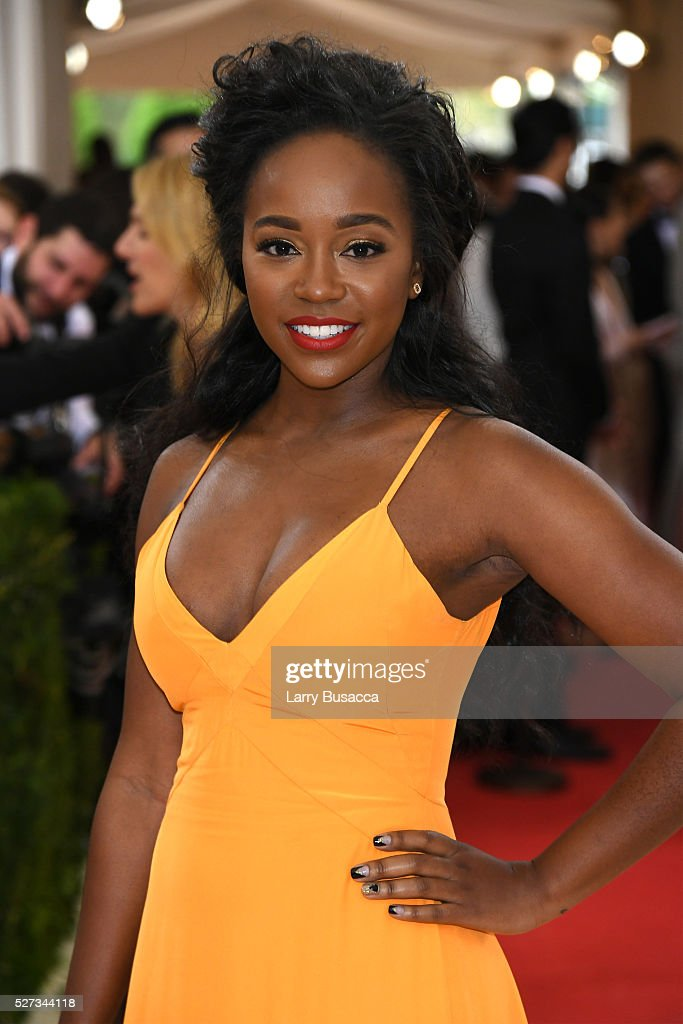 Aja Naomi King attends the 'Manus x Machina: Fashion In An Age Of Technology' Costume Institute Gala at Metropolitan Museum of Art on May 2, 2016 in New York City.