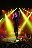 Aja Volkman of Nico Vega performs at the Susquehanna Bank Center on March 7 2014 in Camden New Jersey