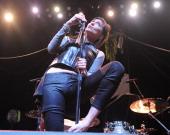 Aja Volkman of Nico Vega performs at The Tabernacle on February 14 2013 in Atlanta Georgia