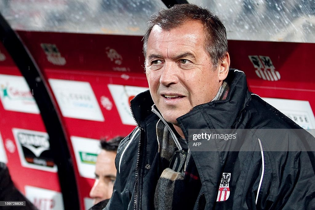 Ajaccio's newly appointed coach Albert Emon is pictured before the French L1 football match Ajaccio (ACA) vs Valenciennes (VAFC) at the Francois Coty stadium in Ajaccio, French mediterranean island of Corsica, on January 19, 2013.