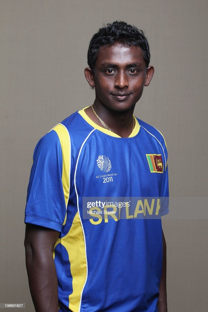 <a gi-track='captionPersonalityLinkClicked' href=/galleries/search?phrase=Ajantha+Mendis&family=editorial&specificpeople=5123004 ng-click='$event.stopPropagation()'>Ajantha Mendis</a> of Sri Lanka ahead of the 2011 ICC World Cup at the Hilton Hotel on February 9, 2011 in Colombo, Sri Lanka.
