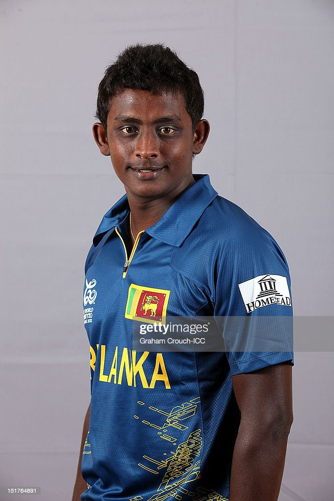 <a gi-track='captionPersonalityLinkClicked' href=/galleries/search?phrase=Ajantha+Mendis&family=editorial&specificpeople=5123004 ng-click='$event.stopPropagation()'>Ajantha Mendis</a> of Sri Lanka poses on September 11, 2012 in Colombo, Sri Lanka.