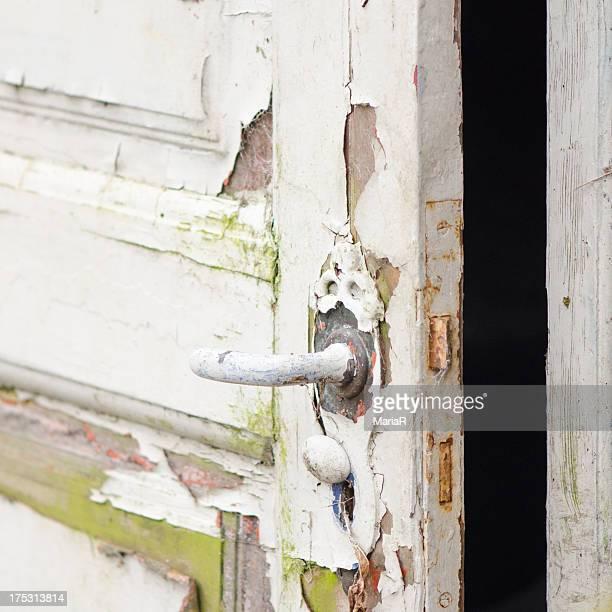 Ajar weathered door