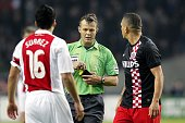 Ajax captain Luis Suarez was not sent off the pitch but later has accepted a sevenmatch ban for biting PSV Eindhoven midfielder Otman Bakkal's...