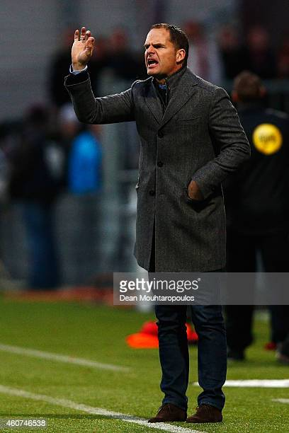 Ajax Manager / coach Frank de Boer gives his players instructions during the Dutch Eredivisie match between SBV Excelsior Rotterdam and Ajax...