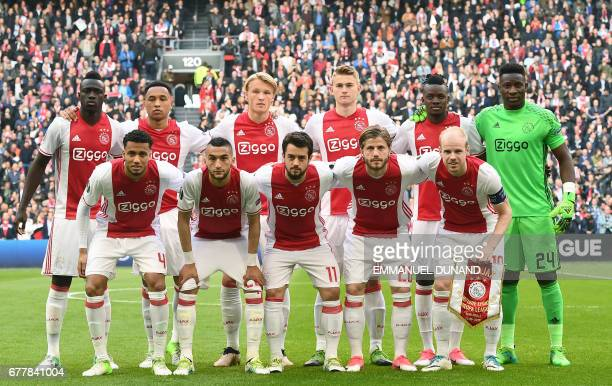 Ajax players 1st row Ajax defender Jairo Riedewald Ajax midfielder Hakim Ziyech Ajax forward Amin Younes Ajax forward Lasse Schöne Ajax midfielder...