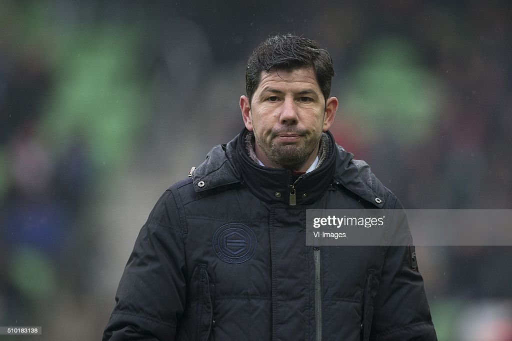 , Ajax, trainer Erwin van de Looi of FC Groningen, during the Dutch Eredivisie match between FC Groningen and Ajax Amsterdam at Euroborg on February 14, 2016 in Groningen, The Netherlands