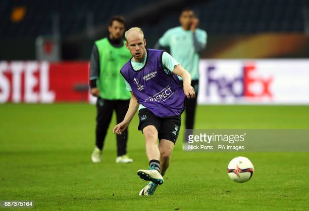 Ajax's Davy Klaassen during the training session at the Friends Arena Stockholm in Sweden ahead of the Europa League Final against Manchester United...