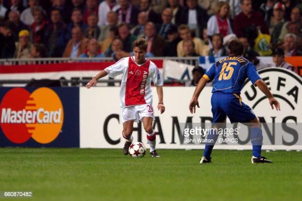 Ajax's Nicolae Mitea and Juventus' Alessandro Birindelli