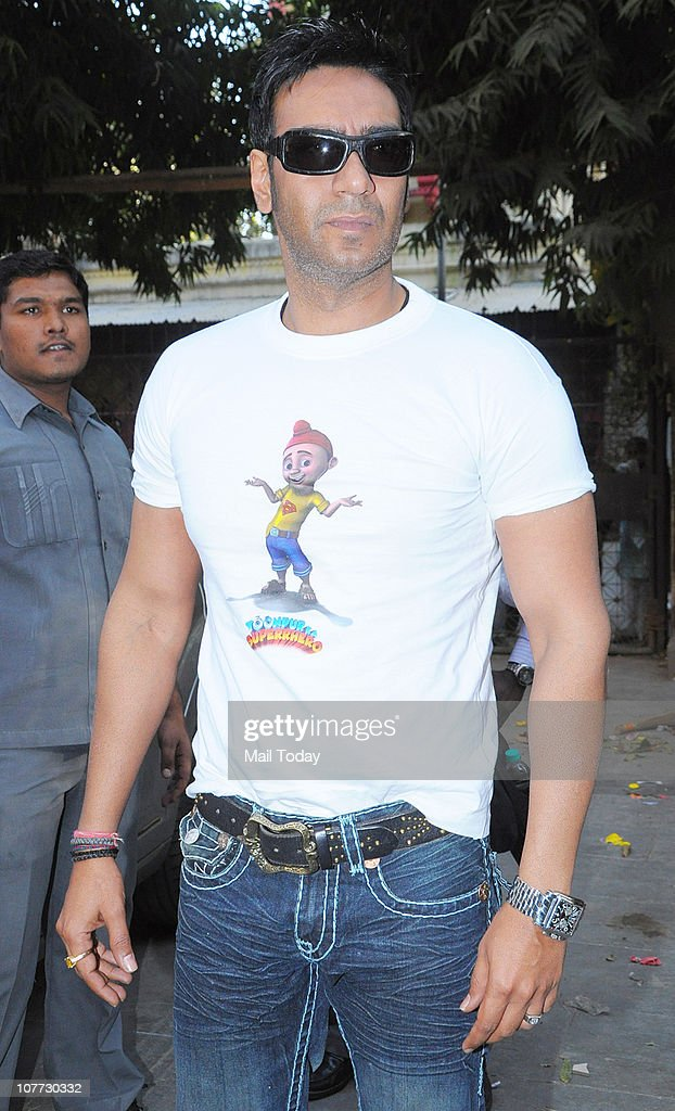 <a gi-track='captionPersonalityLinkClicked' href=/galleries/search?phrase=Ajay+Devgan&family=editorial&specificpeople=627271 ng-click='$event.stopPropagation()'>Ajay Devgan</a> at an event to promote his latest film Toonpur Ka Superhero in Mumbai.