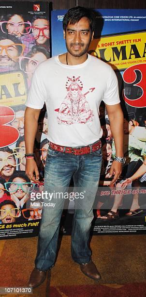 Ajay Devgan at Golmaal 3 success party in Mumbai on November 22 2010