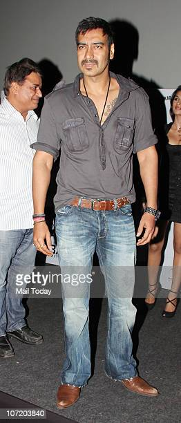 Ajay Devgan at the unveiling of the first look of the film Dil Toh Bachcha Hai Ji in Mumbai on November 27 2010