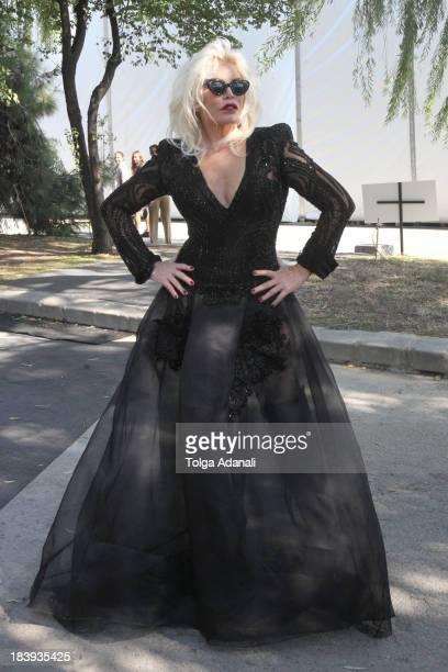 Ajda Pekkan attends MercedesBenz Fashion Week Istanbul s/s 2014 presented by American Express on October 10 2013 in Istanbul Turkey