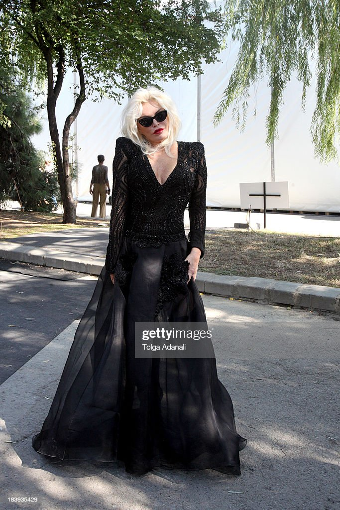 Ajda Pekkan attends Mercedes-Benz Fashion Week Istanbul s/s 2014 presented by American Express on October 10, 2013 in Istanbul, Turkey.